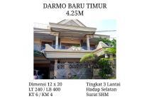 Dijual Rumah Darmo Baru Timur, LT 240, LB 400, 3 Lantai, SHM,