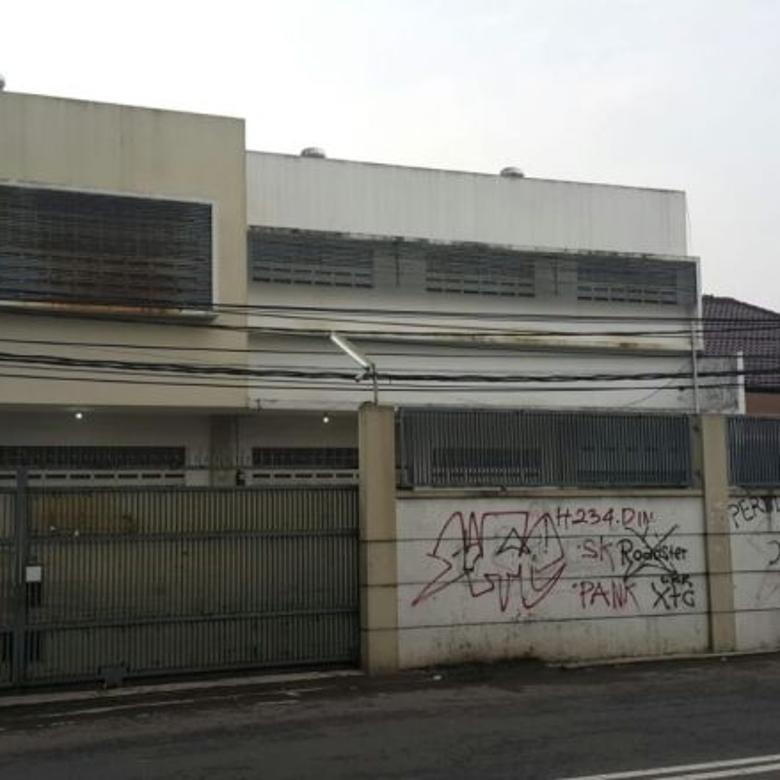 Jual kantor & gudang, lokasi strategis di Moh Toha