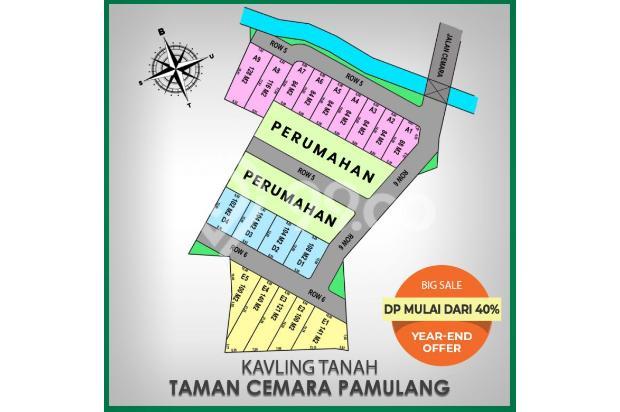 DP 40% Beli Kapling Perumahan di Taman Cemara Pamulang Lewat KPT Perbank 21840666