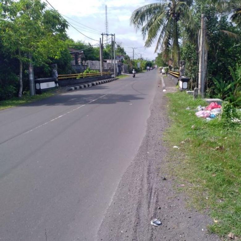 Jual Tanah dipinggir utama Jalan Raya Tanah Lot