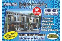 Pertama!! Rumah Kredit Syariah @Jakasampurna Bekasi Barat, Dkt Stsn Kranji