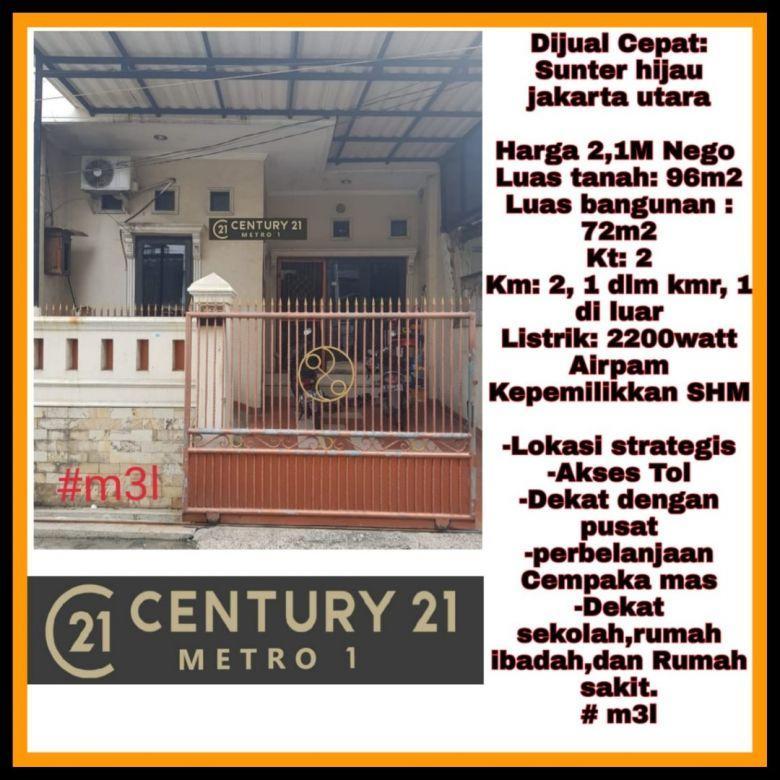 Dijual Cepat Rumah di Sunter Hijau, Jakarta Utara