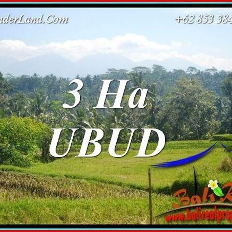 View Sawah, Gunung dan Sungai 30,000 m2 di Ubud Tegalalang