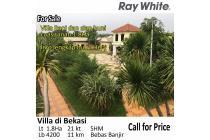 Villa Luas 1.8Ha dijual di Bekasi Jawa Barat