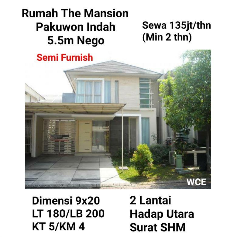 Rumah The Mansion Pakuwon Indah Surabaya Barat Siap Huni