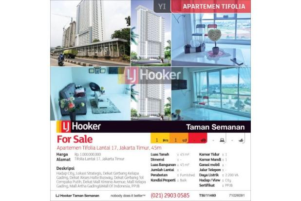 Apartemen Tifolia Lantai 17, Jakarta Timur, 45 m² 12899759
