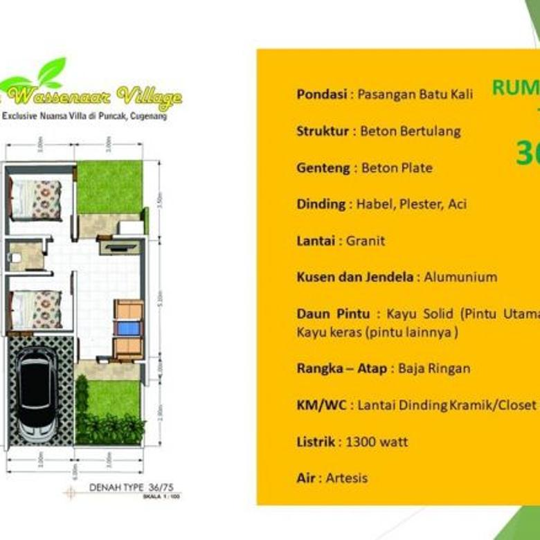 Jual Rumah di Puncak view Cianjur city light Wassenaar Village