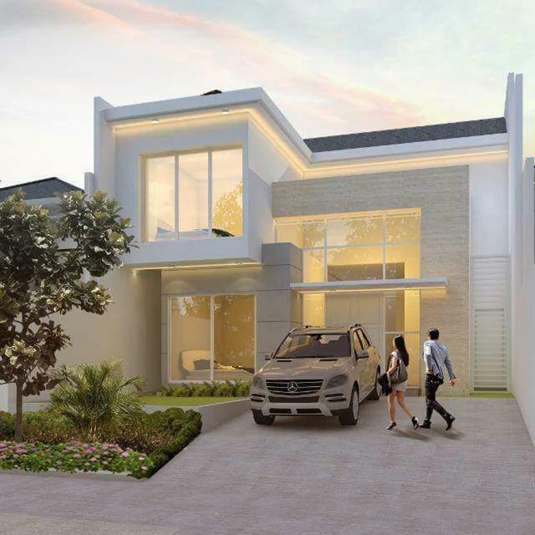 New Gress Rumah Sutorejo Utara Baru Mewah Desain Futuristik