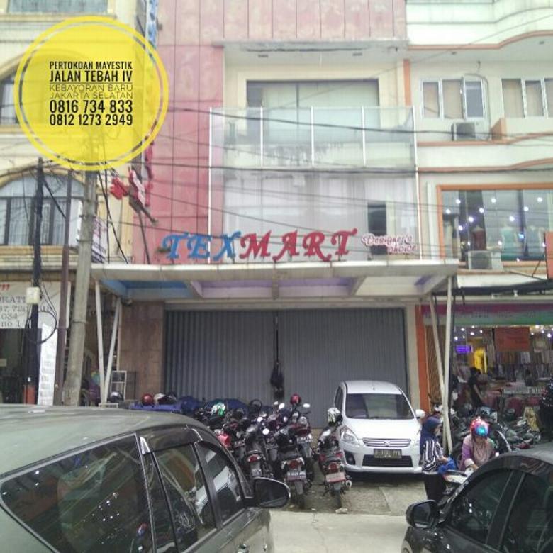 Toko Mayestik Jl Tebah IV Lt155m ada Lift nya MURAH 18.5M