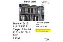 Rumah Baru Minimalis Baruk Utara Surabaya Timur dkt MERR Nego