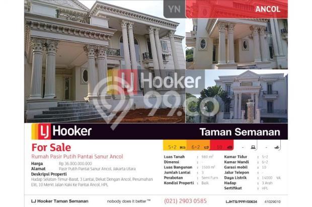Rumah Pasir Putih Pantai Sanur Ancol, Jakarta Utara, 980m, 3 Lt 5455018