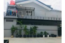 CHANDRA*rumah hoek uk 9x15m lokasi bagus bebas banjir di komplek kavling polri