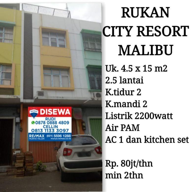 Ruko City Resort Malibu. lokasi strategis