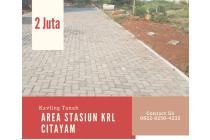 Penjualan Perdana, Kavlingan 100-an Meter Dekat Stasiun KRL