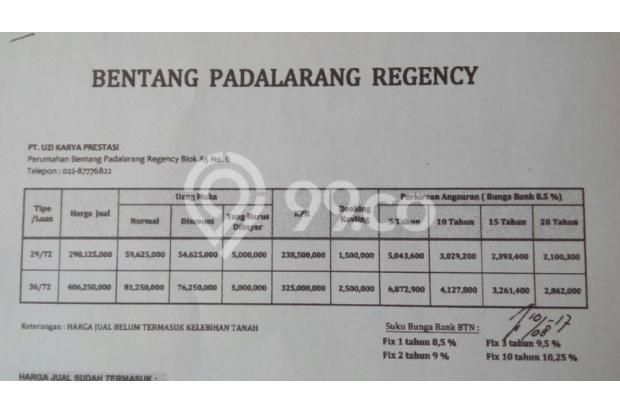 Rumah murah di padalarang harga murah 15893824