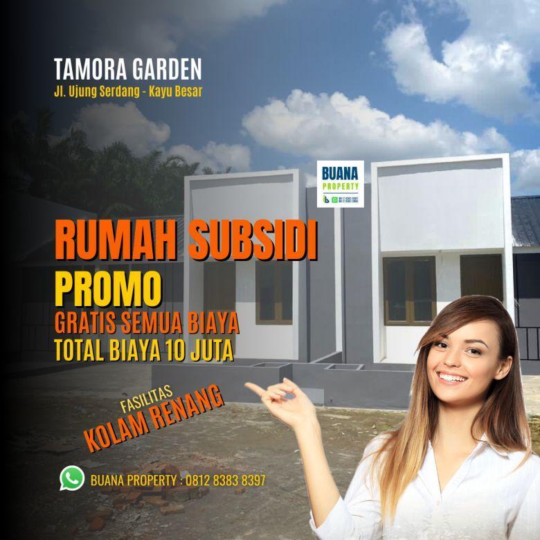 Rumah Subsidi Fasilitas Kolam Renang Tanjung Morawa Medan