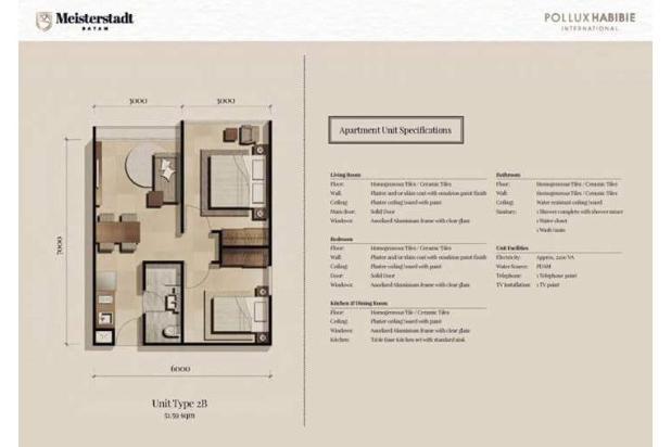 Rp436jt Apartemen Dijual