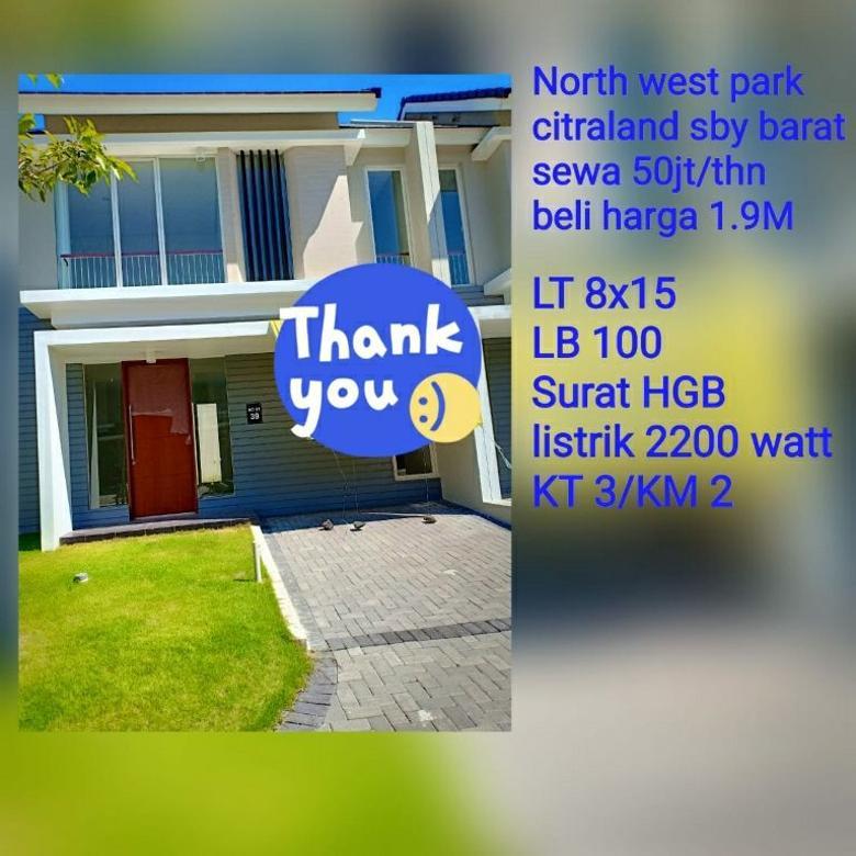 Northwest Park Citraland Surabaya barat siap huni