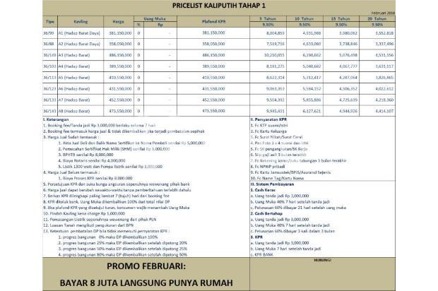 PROMO FEBRUARI: Jual Rumah KPR TANPA DP  Bergaransi Akad 16048305