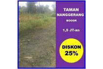 Taman Nanggerang, Tanah Kapling Matang, SHM Korting 25 %