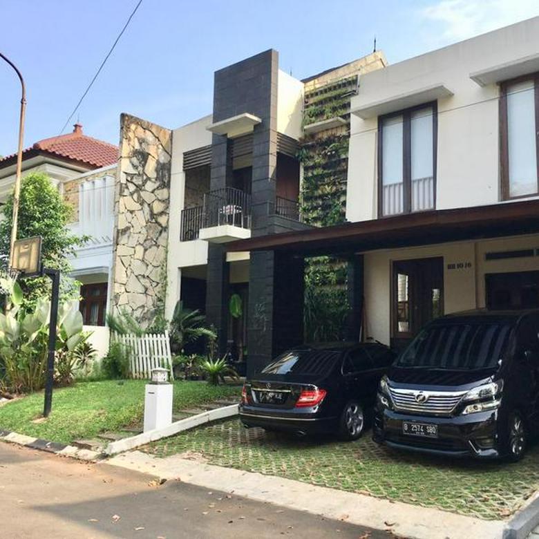 Sektor 9 bintaro.Rumah modern dalam cluster senayan bintaro sektor 9