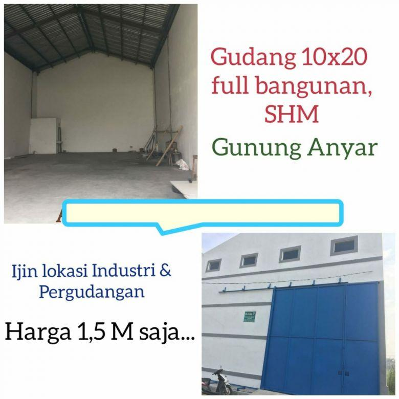 Gudang Gunung anyar full bangunan Surabaya nego