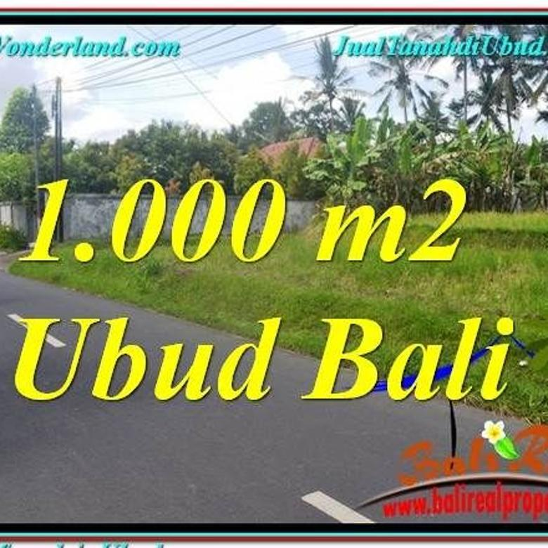 1.000 m2 View Sawah sungai 6,75 jt/m di Sentral Ubud LUBD649