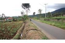 tanah murah bandung, sangat strategis pinggir jalan desa