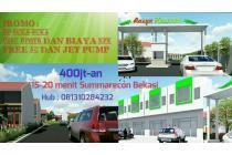 Rumah Cluster Mewah 1 Lantai Dekat Summarecon Bekasi