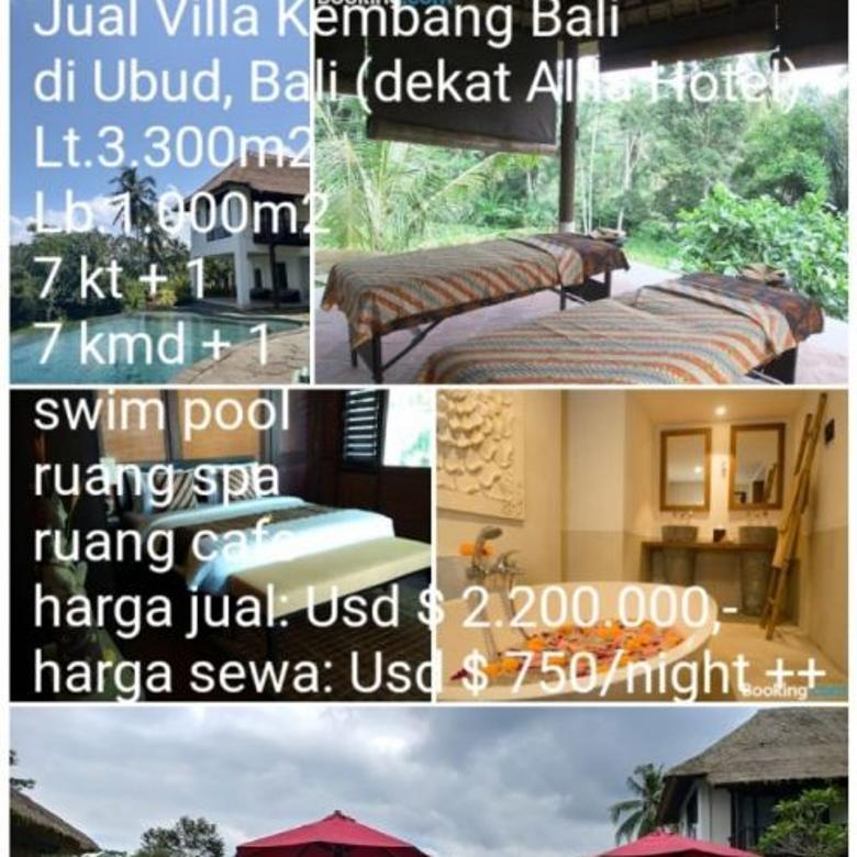 Dijual Villa Kembang Bali di Ubud Bali Dekat Allia Hotel