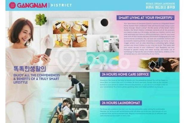 Dijual Perdana Apartemen Mewah Fasilitas Lengkap di Gangnam District Bekasi 13962137