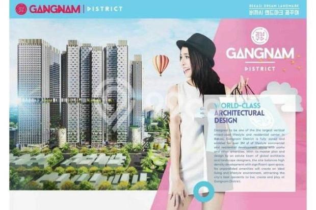 Dijual Perdana Apartemen Mewah Fasilitas Lengkap di Gangnam District Bekasi 13962138