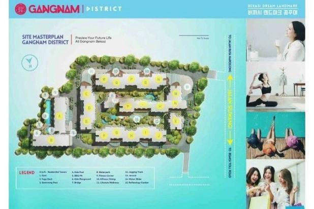 Dijual Perdana Apartemen Mewah Fasilitas Lengkap di Gangnam District Bekasi 13962135
