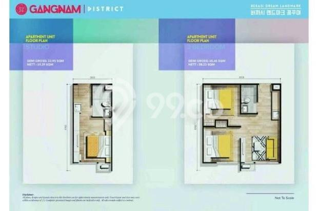 Dijual Perdana Apartemen Mewah Fasilitas Lengkap di Gangnam District Bekasi 13962140