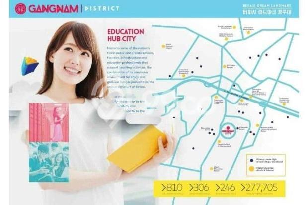 Dijual Perdana Apartemen Mewah Fasilitas Lengkap di Gangnam District Bekasi 13962152