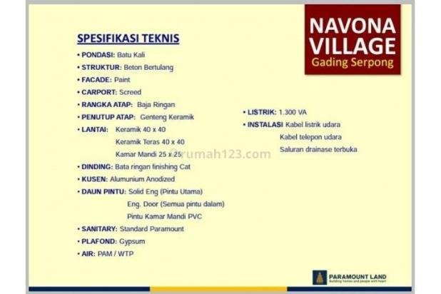 Rumah Navona Village Di Cluster Catalina Gading Serpong Tangerang. 11457855