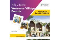 Villa Puncak Dijual Desain 2 Lantai Fasilitas Smarthome System