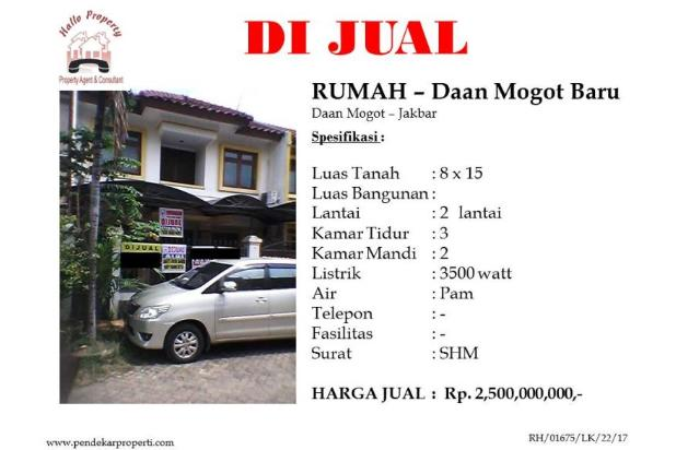 Dijual rumah di Daan Mogot Baru, Jakarta Barat. 15518433