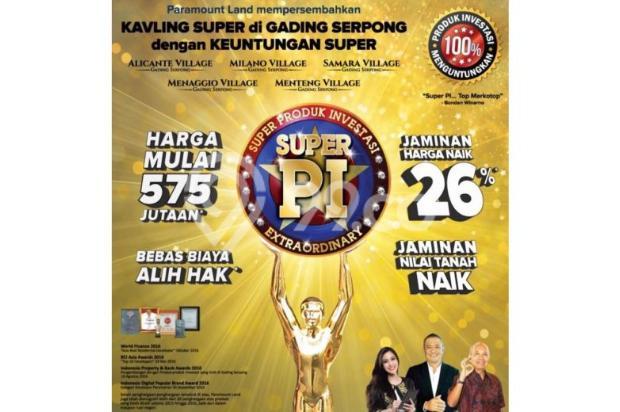 KAVLING SUPER PI PRODUK INVESTASI by paramaound land 8656821