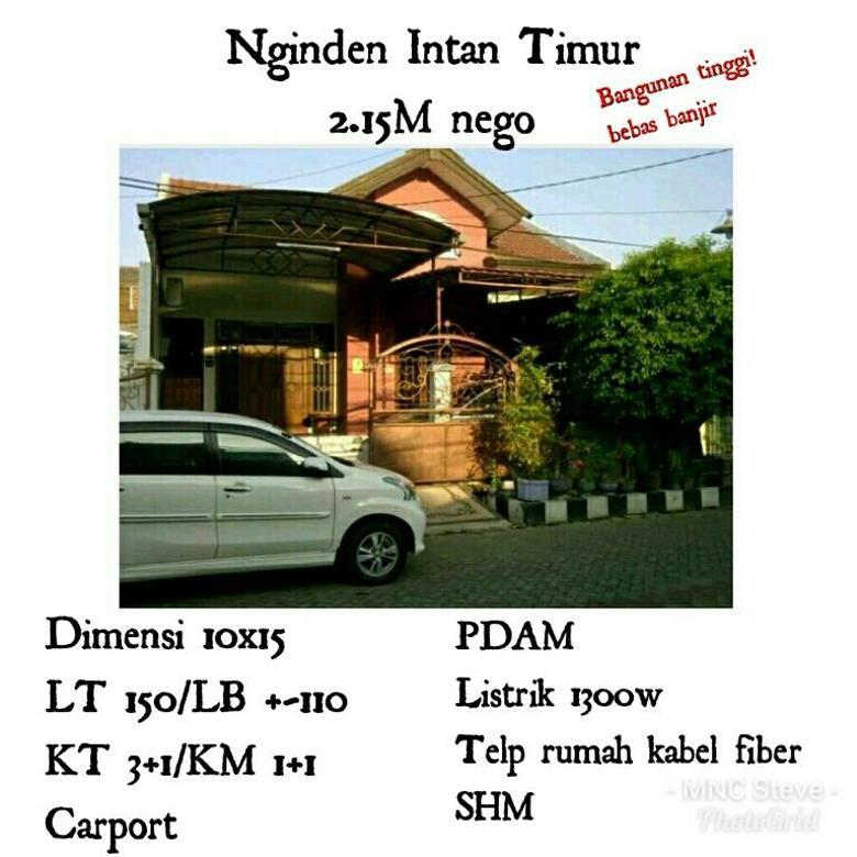 Nginden Intan Timur 2.15M Surabaya Timur Bangunan Tinggi