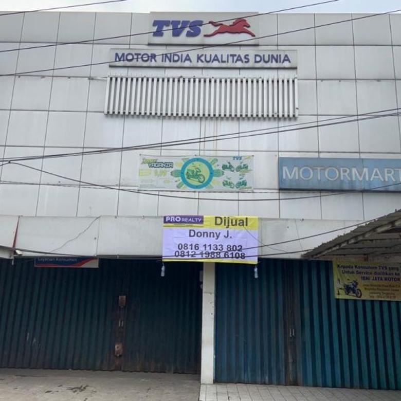 Ex showroom dan bengkel motor di jl. Gatot Subroto Tangerang