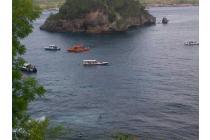 Tanah Nusa Penida Wisata strategis tebing, pantai, view, sunset full