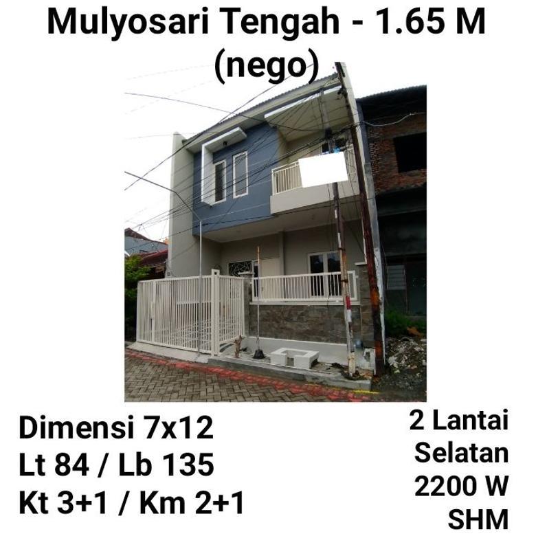Rumah Mulyosari Surabaya Baru Minimalis Siap Huni Bebas Banjir