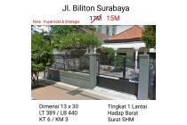 Rumah Jalan Biliton Surabaya Pusat Kota Strategis Nego