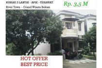 Dijual Rumah 2 Lantai Apik Asri di Grand Wisata Bekasi