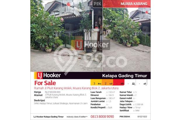 Rumah Jl Pluit Karang Molek, Muara Karang Blok 2, Jakarta Utara 15423152