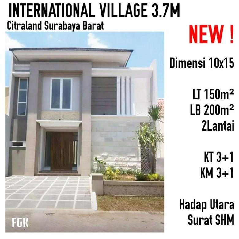 NEW ! INTERNATIONAL VILLAGE - Citraland Surabaya Barat
