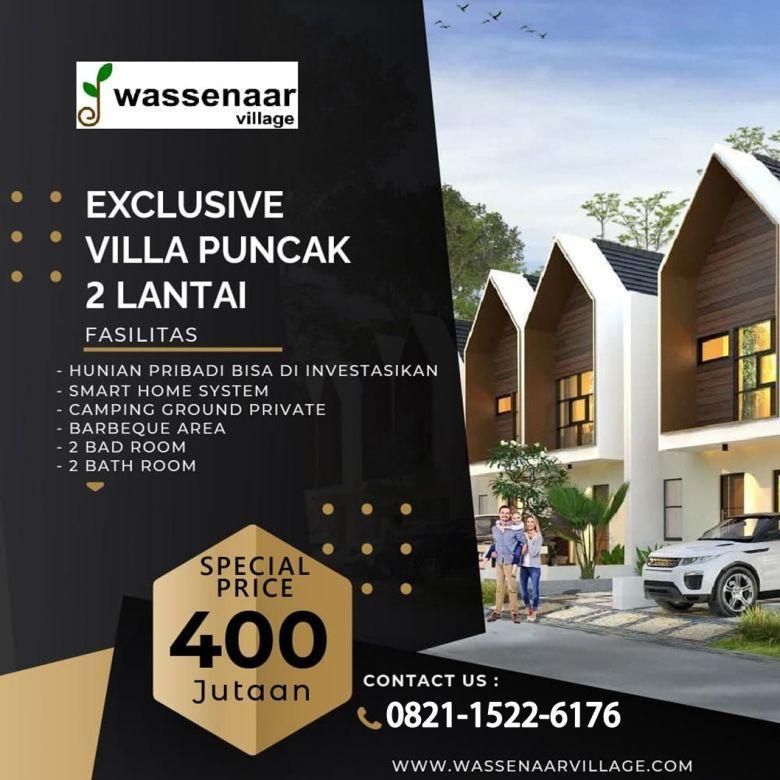 Jual Villa 2 lantai desain Modern Dekat Kawasan Wisata Puncak