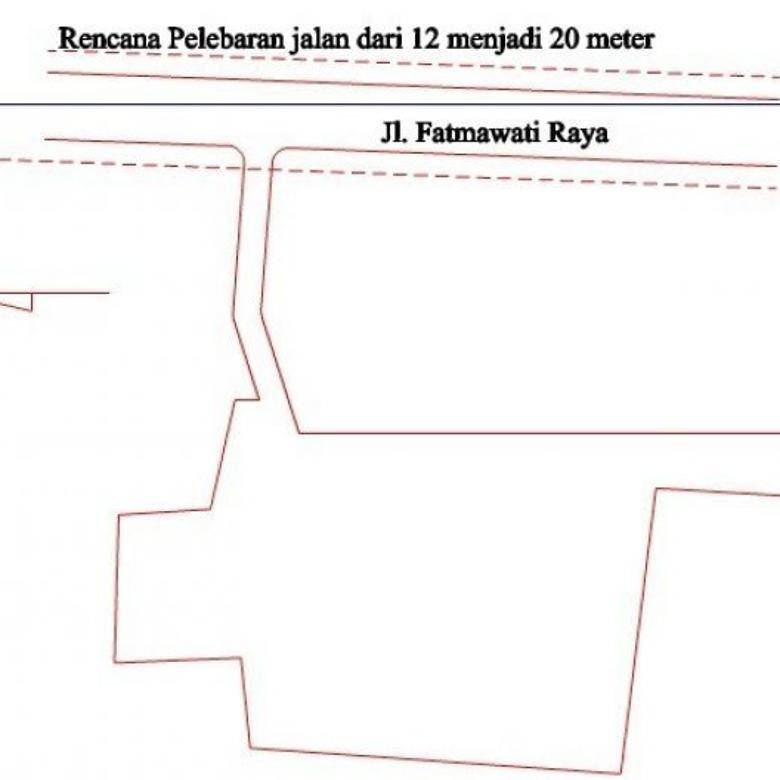 Jual Tanah 5000 Meter Strategis di Fatmawati Jakarta selatan OP735