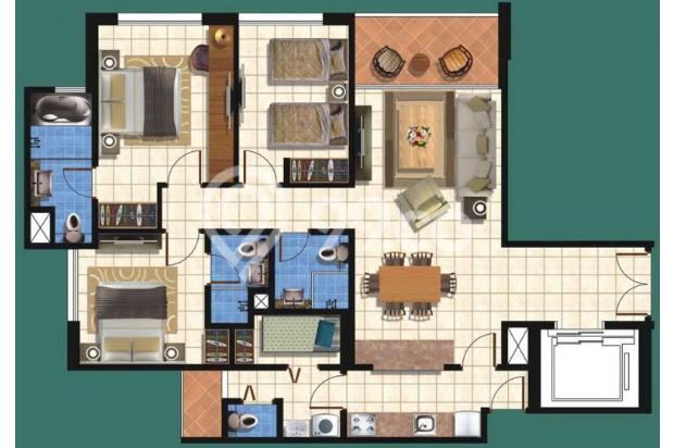 Apartemen taman Anggrek 3+1br Private Lift 13873797